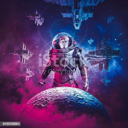 istock Intergalactic space hero 949556664