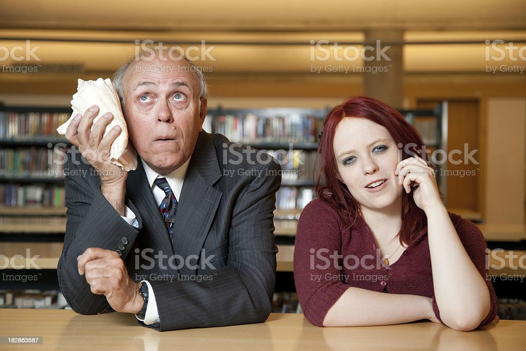 Intergenerational Communication Issues royalty-free stock photo