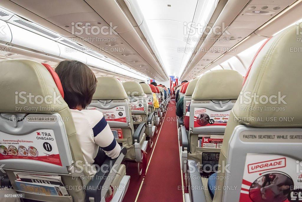 interior Airbus A330-300 stock photo