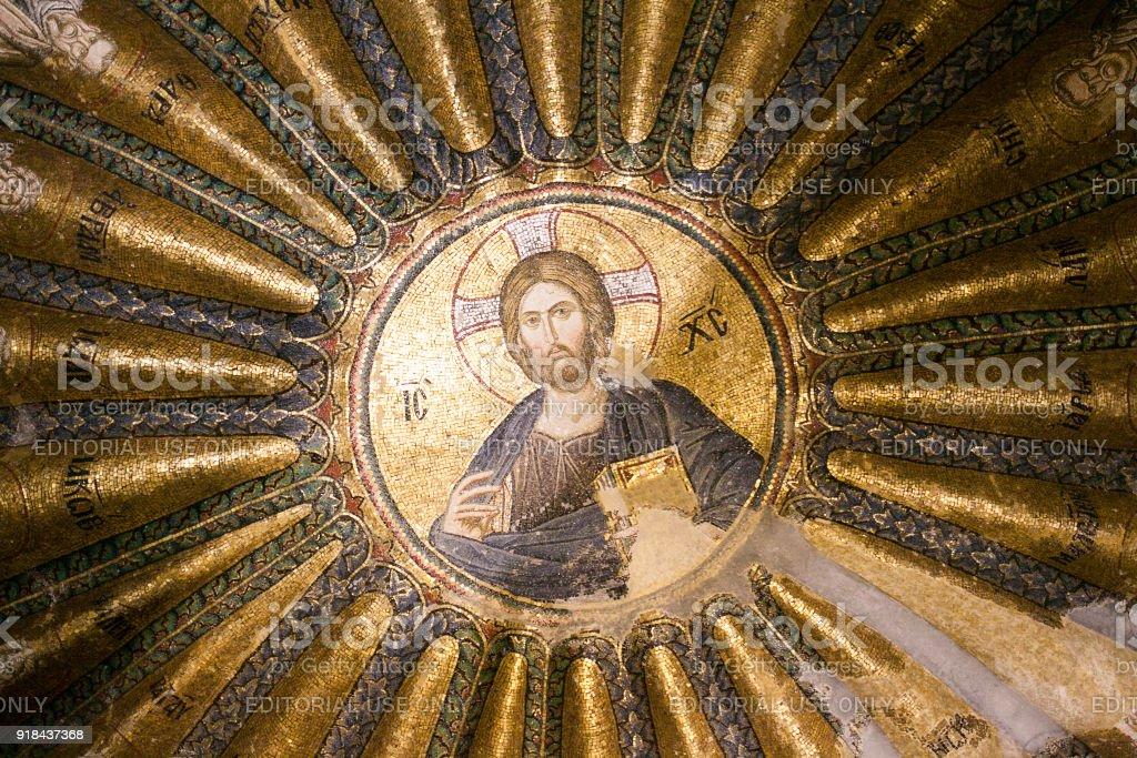 Innen- und antike Mosaik in der Kirche des Heiligen Erlösers in Chora oder Kariye Camii – Foto