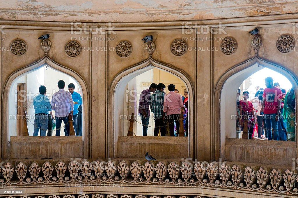 Interior Arches Charminar Hyderabad Royalty Free Stock Photo