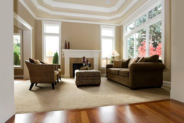interior architecture new luxury living room modern - tapijt stockfoto's en -beelden