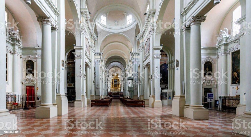 Interior, Basilica of San Domenico, Bologna, Italy stock photo