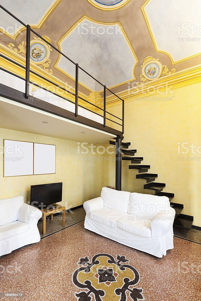 Interior beautiful apartment stock photo
