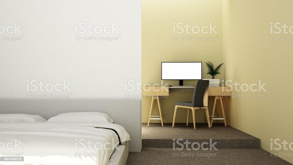 Interior Bedroom Space And Relax Space Furniture Background Color ...