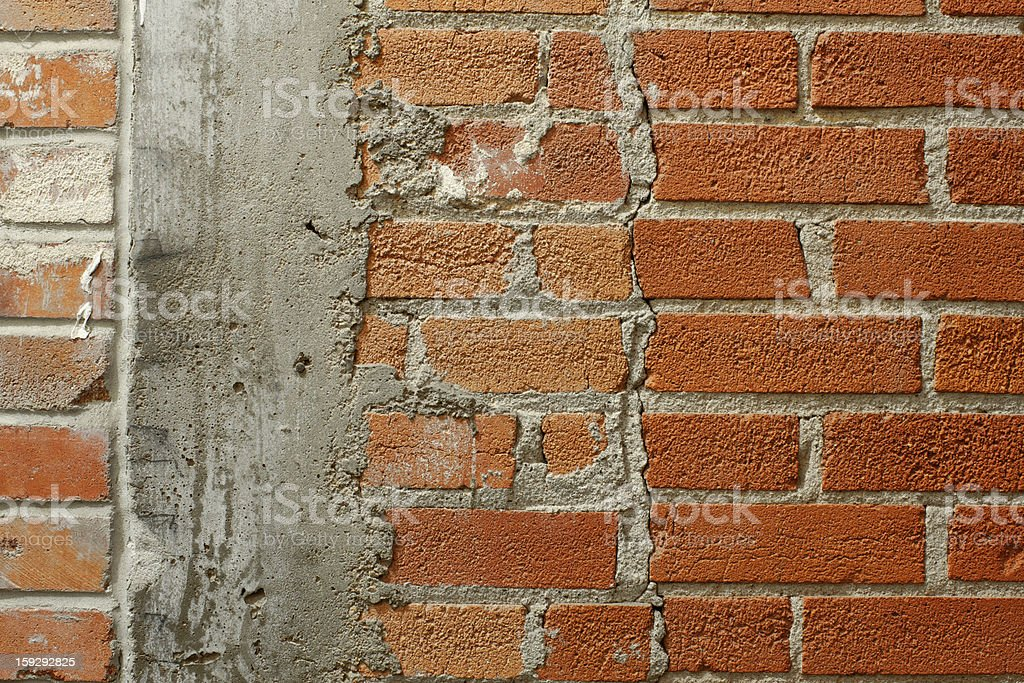 Interior Brick and Concrete Wall royalty-free stock photo