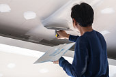 Interior build gypsum board ceiling