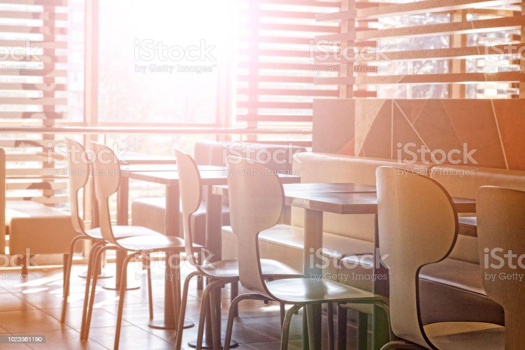 Inneneinrichtung Café Gemütlichkeit Moderne Stadt Tische Stühle ...