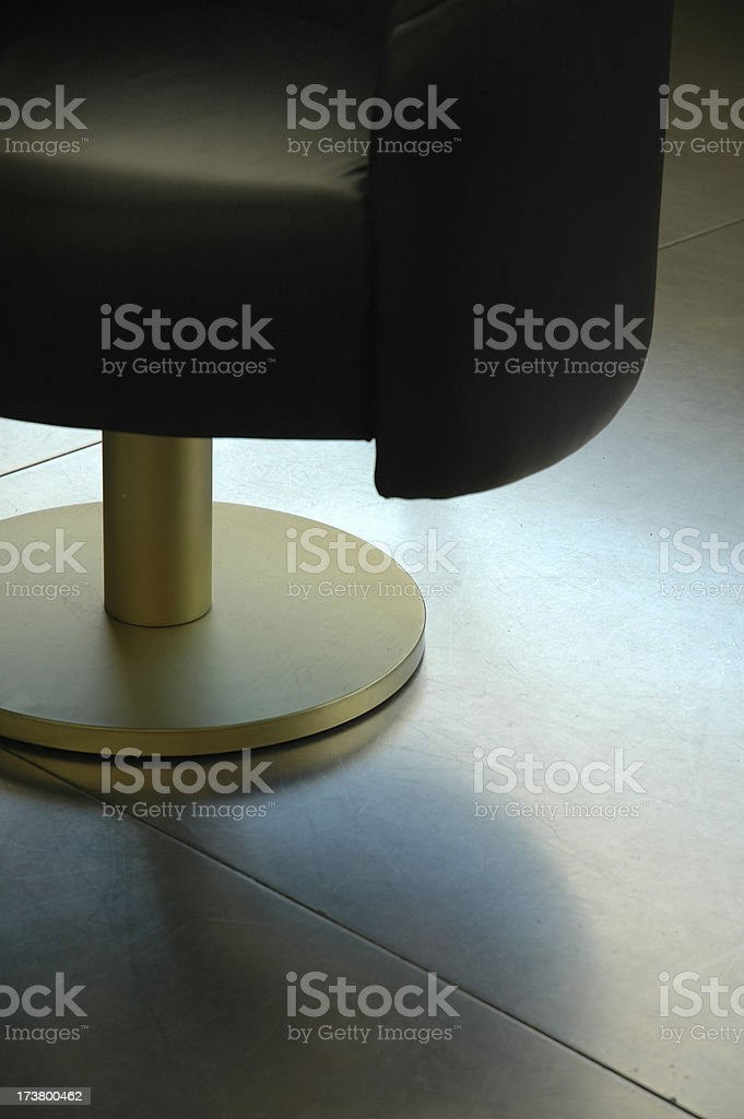 Interior - Chair on steel floor royalty-free stock photo