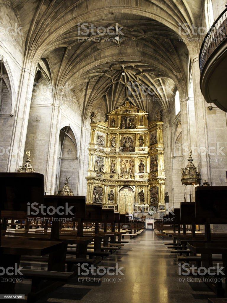 Interior christian church stock photo