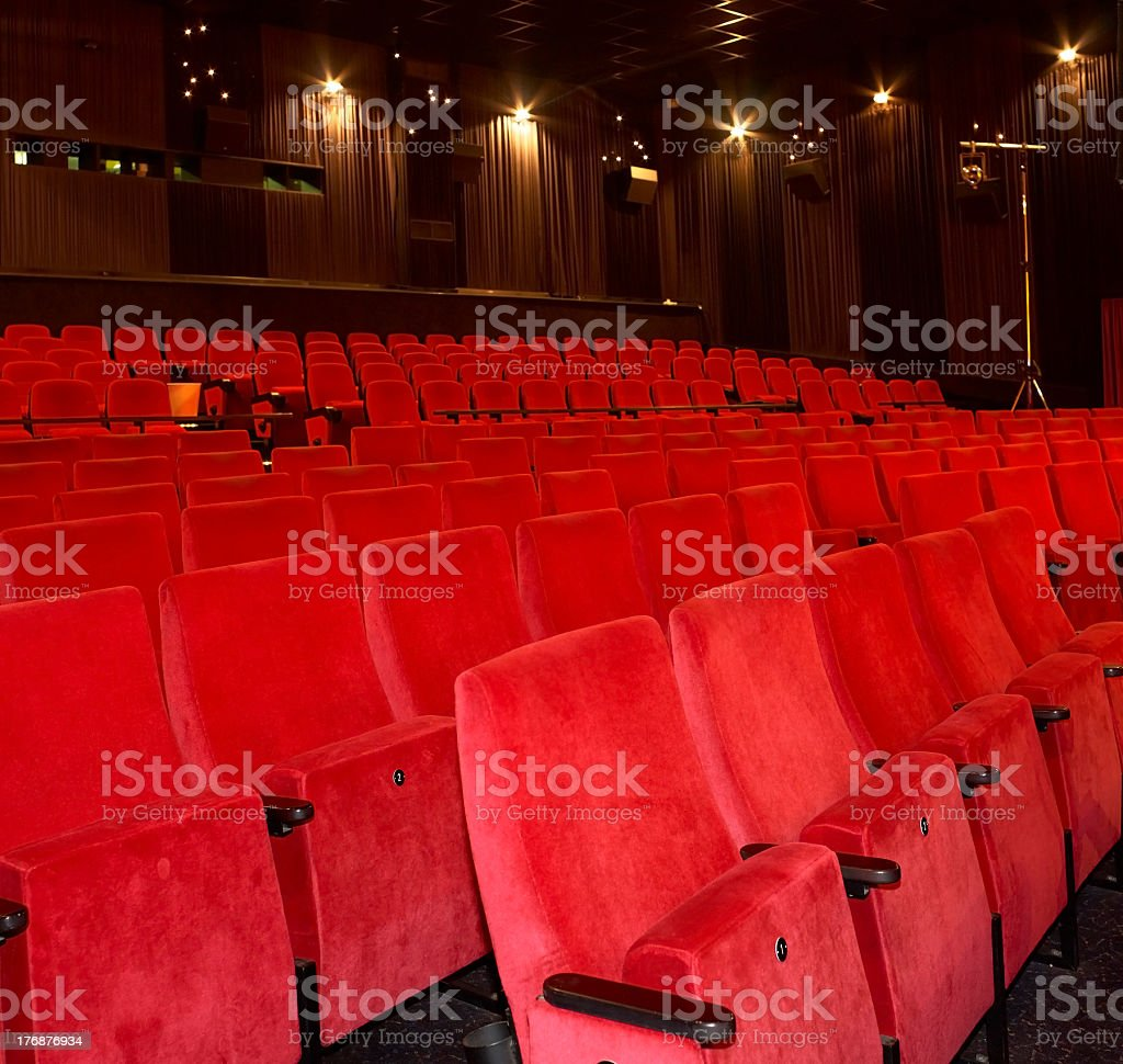 cinema interior royalty-free stock photo