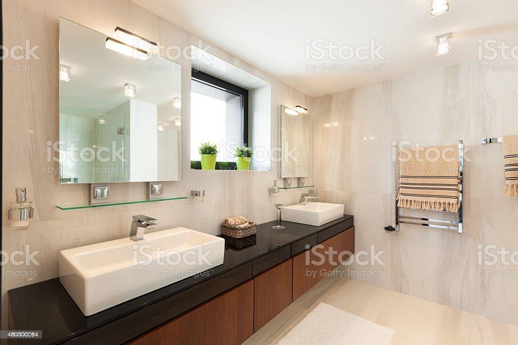 Einrichtung, komfortable Badezimmer – Foto
