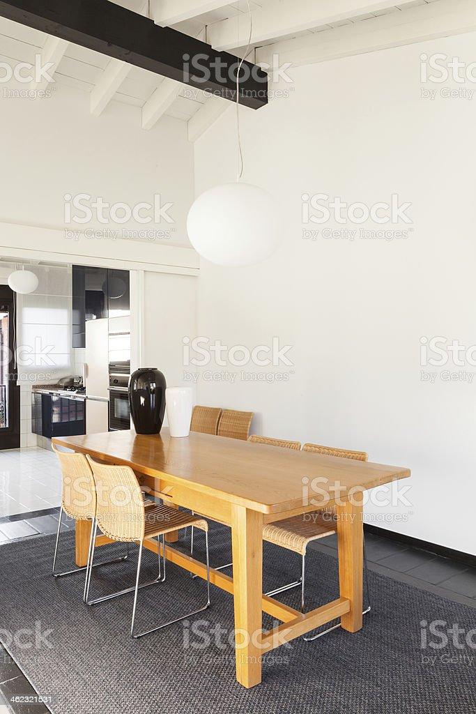 interior, comfortable loft stock photo