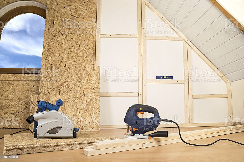 interior construction stock photo