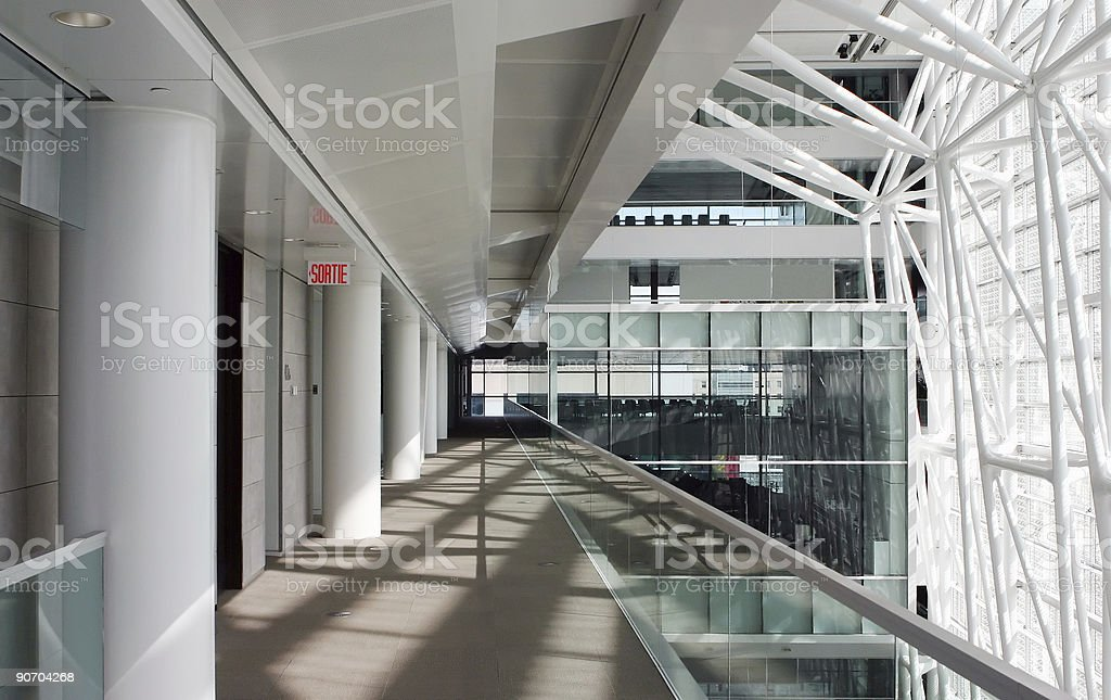 Interior corridor view of modern corporate offices royalty-free stock photo