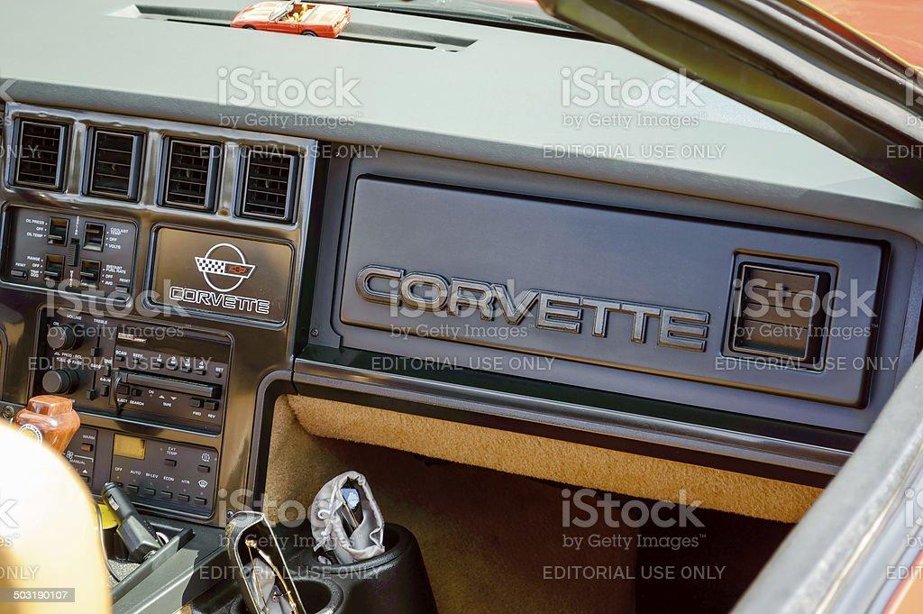 Interior Corvette 1989 stock photo