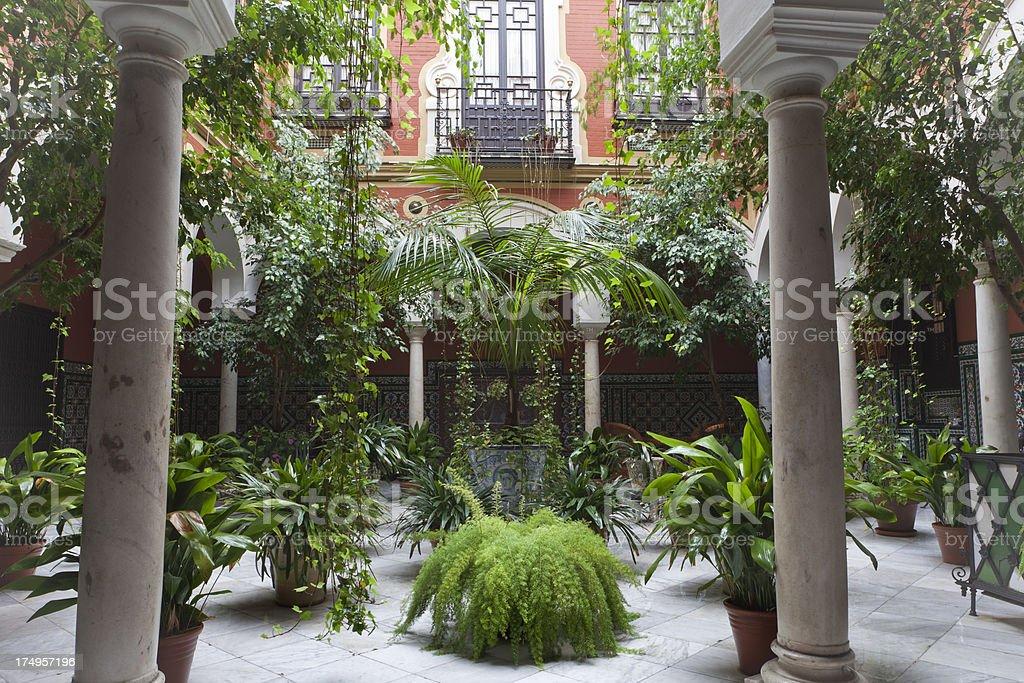 Interior courtyard in Sevilla stock photo