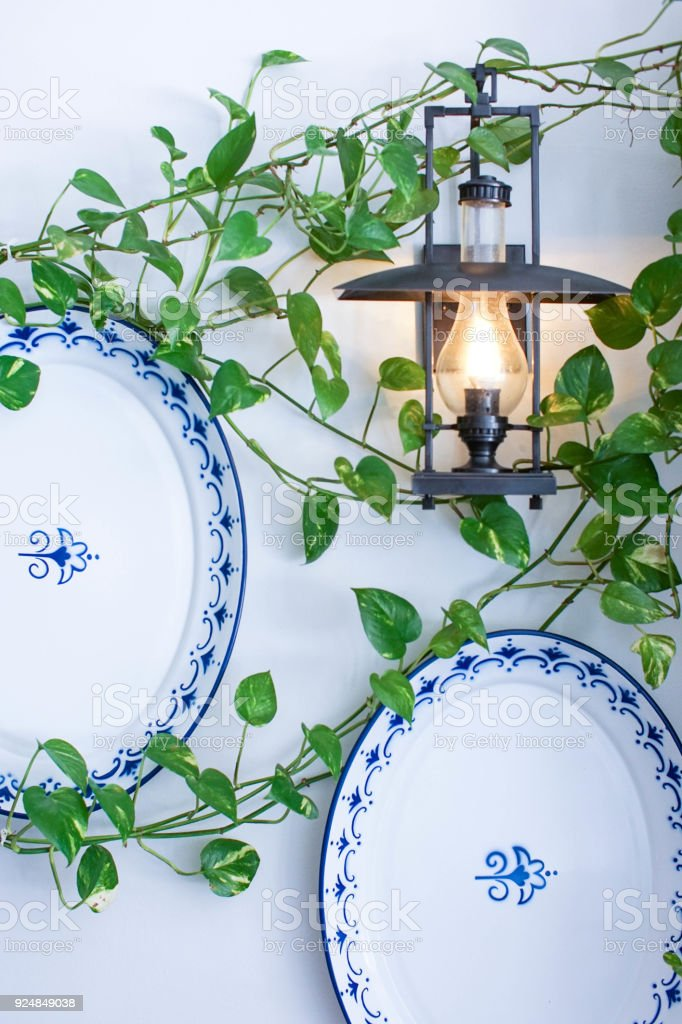 Interior Decor With Decorative Plates Hanging On The Wall Stock Photo Download Image Now Istock