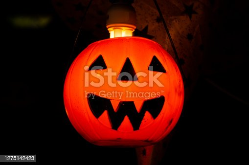 istock Interior decoration furniture pumpkin halloween or Jack o lantern 1275142423