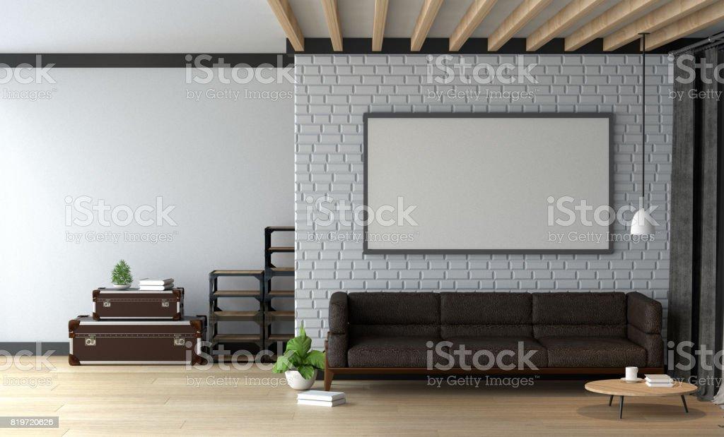 Fotografía de Sofá De Decoración De Interiores En La Sala De Estar ...