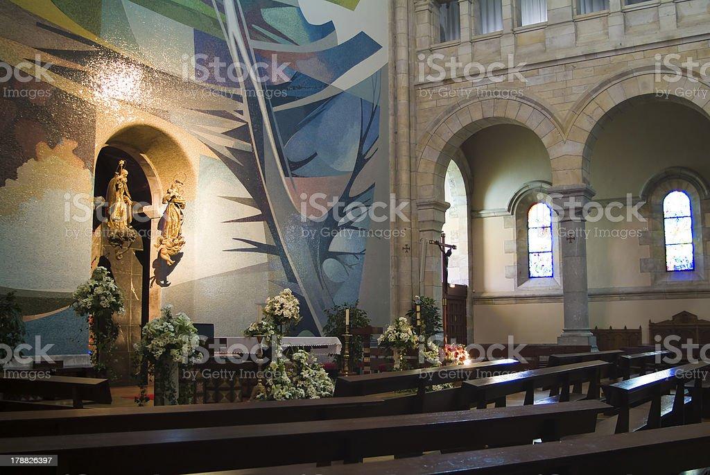 Interior del santuario de Urkiola. Vizcaya. España. royalty-free stock photo
