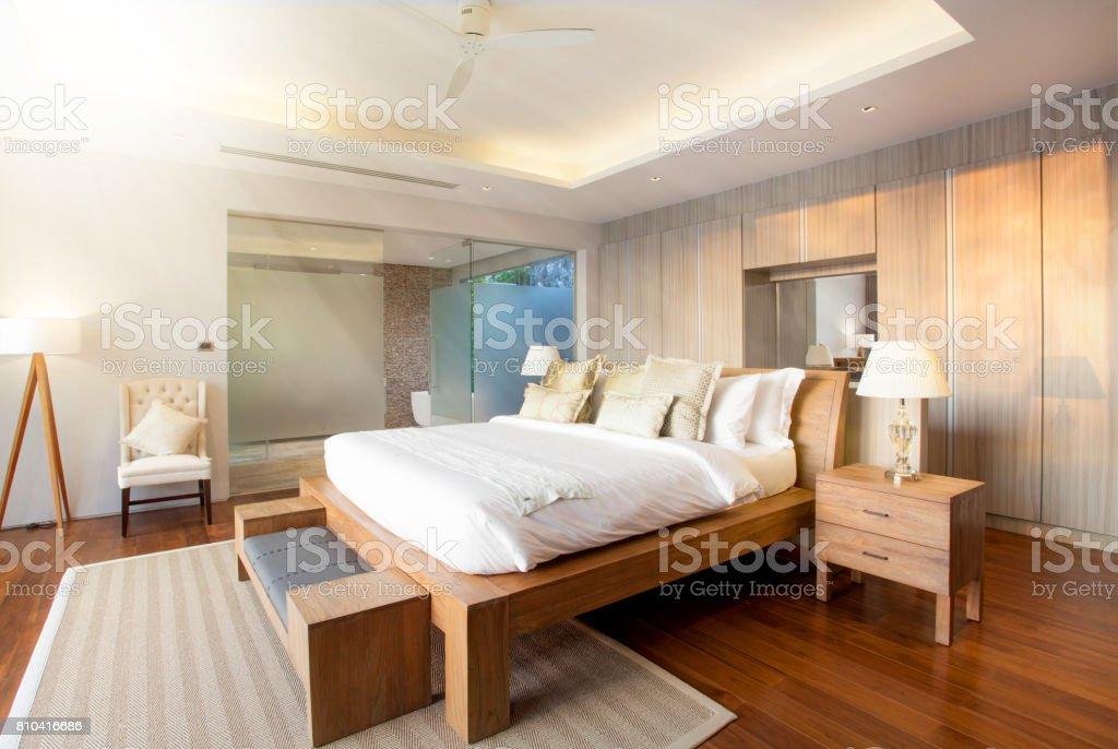 Raumgestaltung Schlafzimmer Pool Villa Mit Gemütlichen King ...