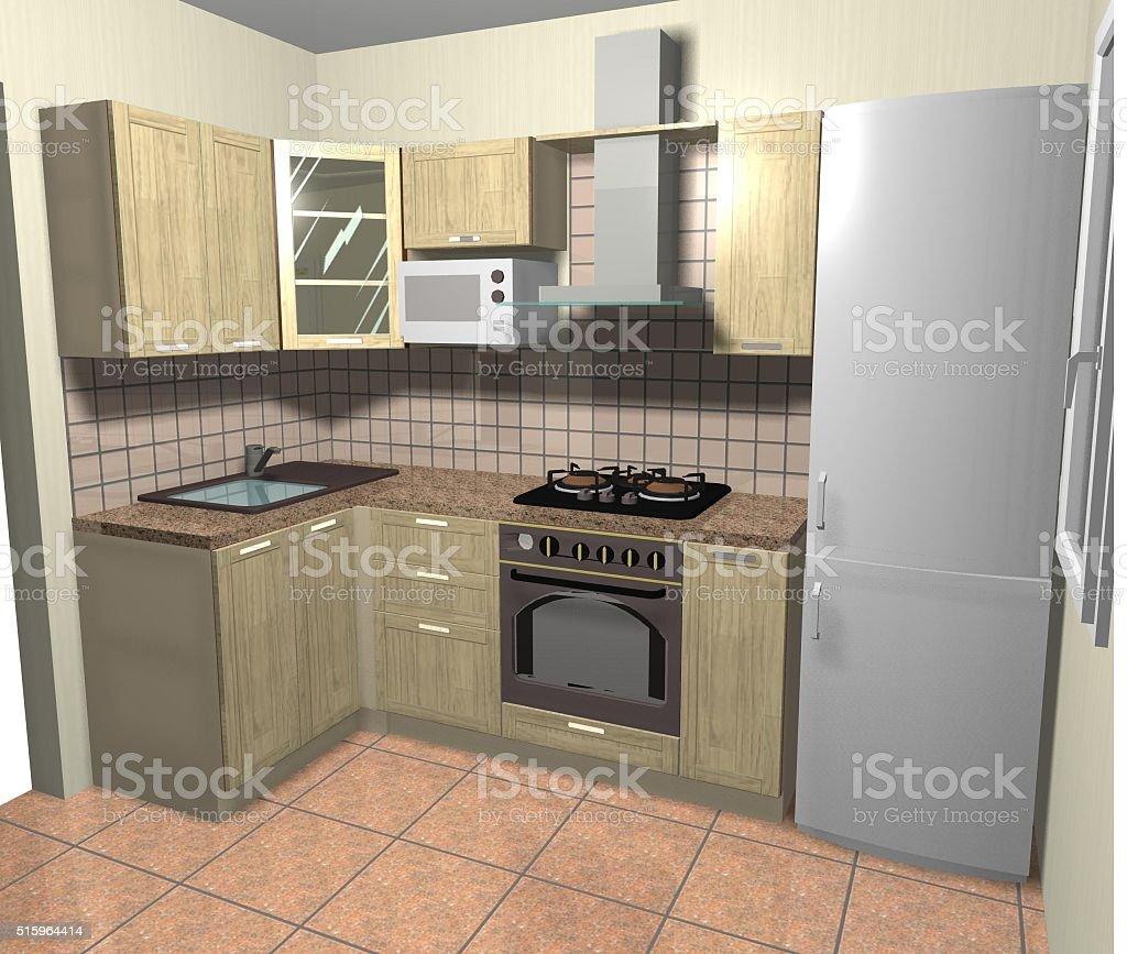 Foto De Projeto De Interiores De Cozinha Moderna Marrom E Bege