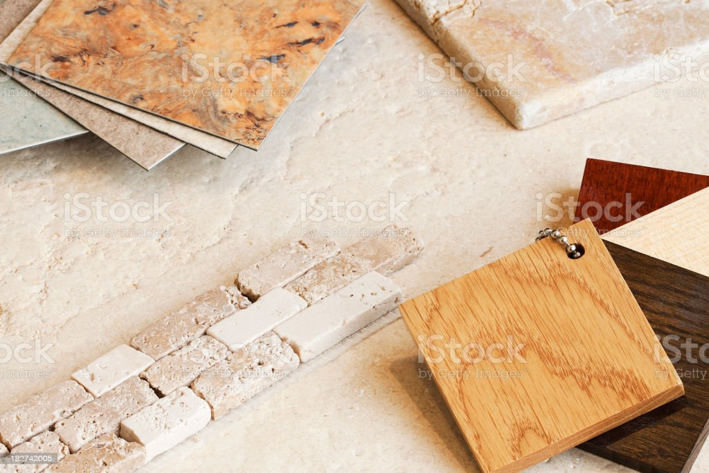 Interior Design Choices. stock photo