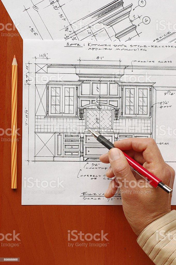 Diseño Interior de dibujos foto de stock libre de derechos