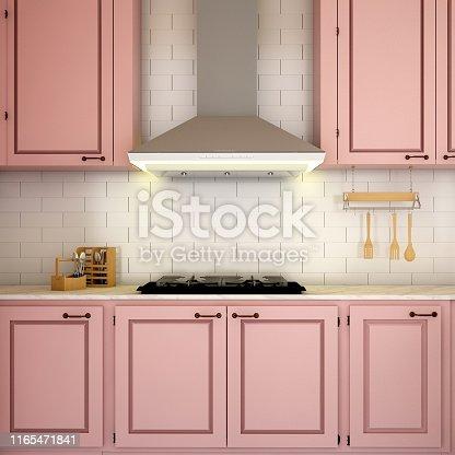 istock interior design for kitchen in modern concept design/ 3d illustration,3d rendering 1165471841