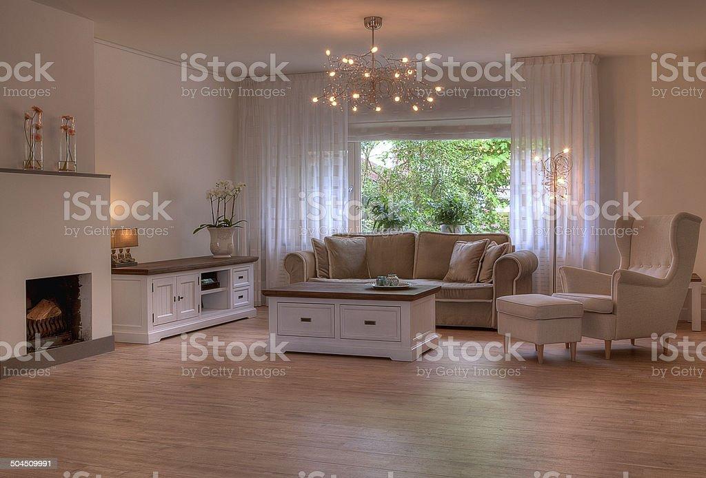Interior design living room stock photo