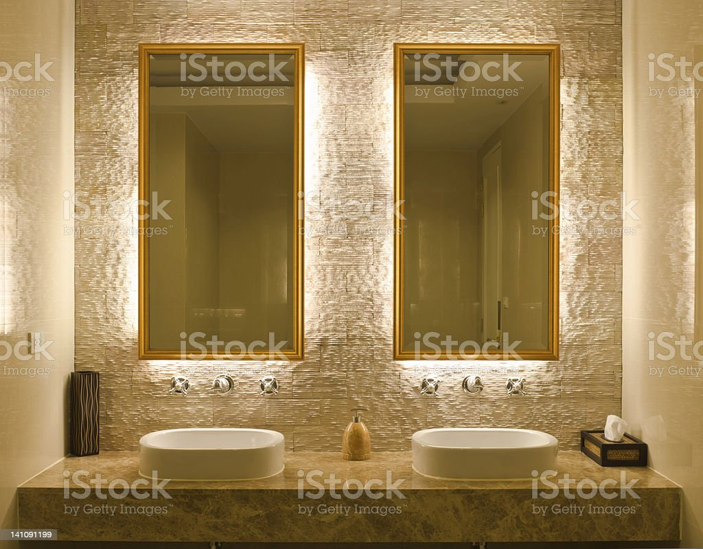 interior design of a bathroom stock photo