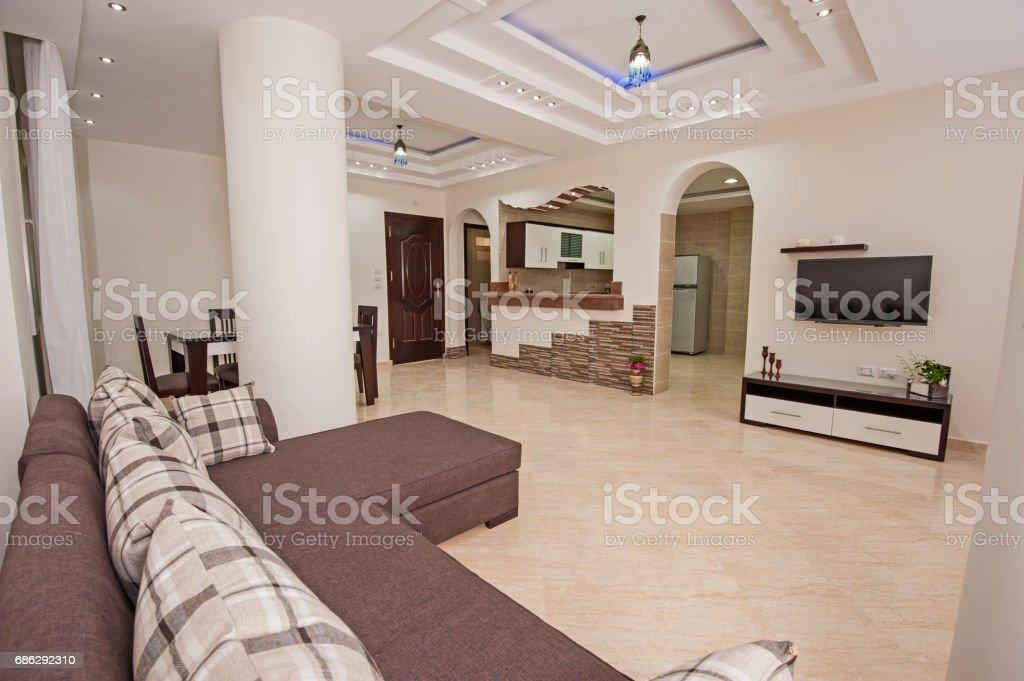 Foto De Interior Design Of Luxury Apartment Living Room E Mais Fotos De Stock De Almofada Istock