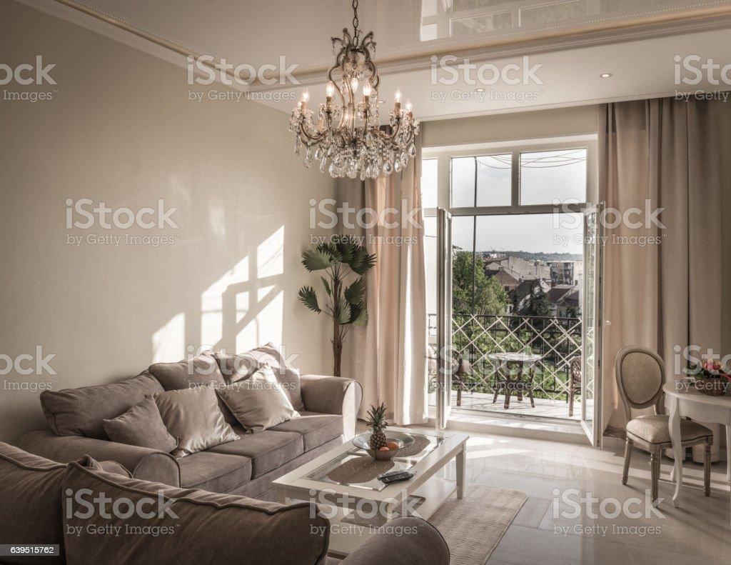 Innenausstattung Des Luxus Wohnzimmer Stock-Fotografie und mehr ...