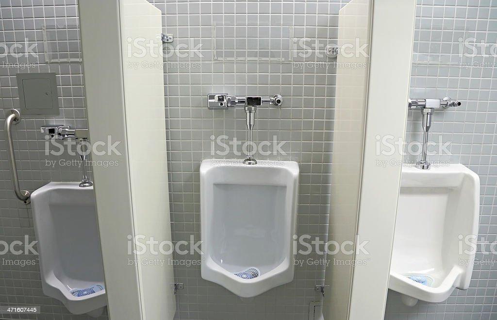 Interior Design of Men's Toilet royalty-free stock photo