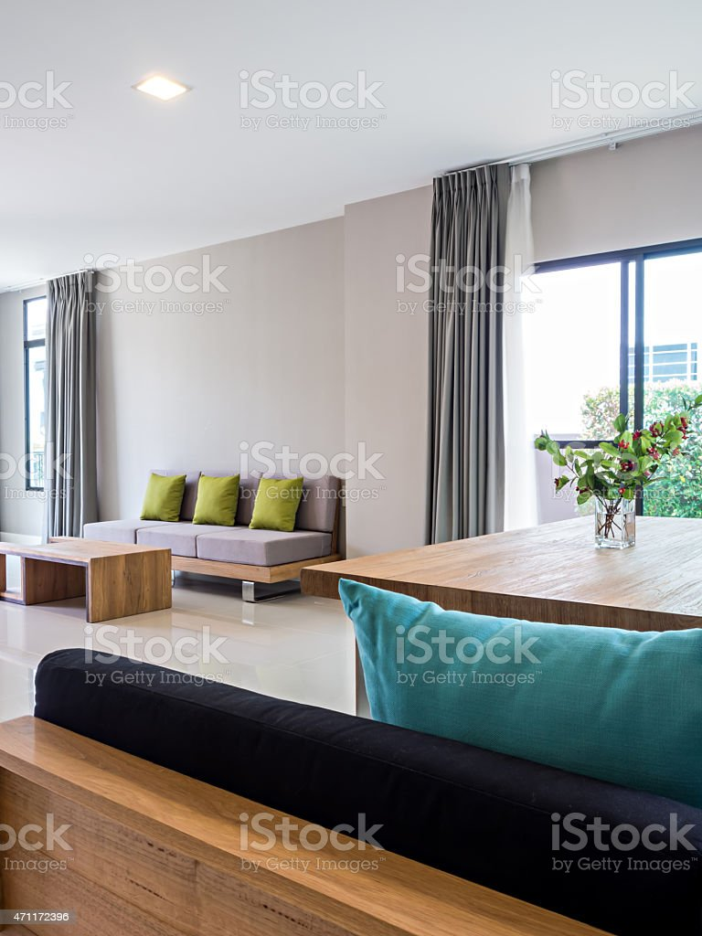 Interior Design Of Modern Living And Dining Room
