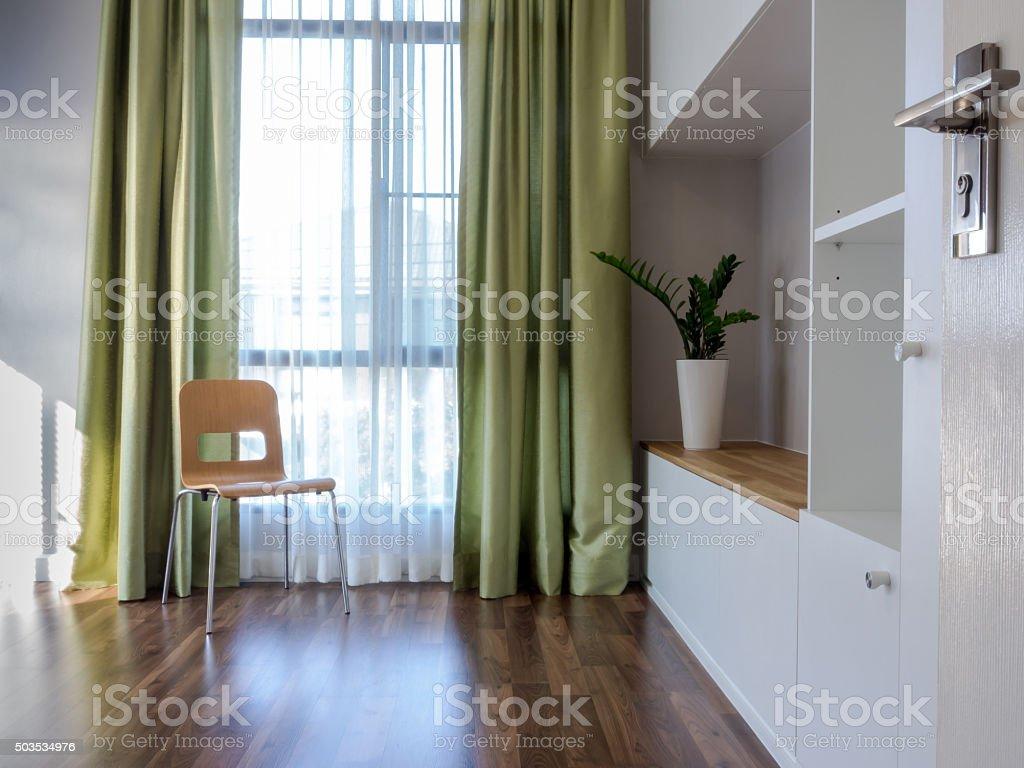 Interior design of modern Living room/ home improvement concept stock photo