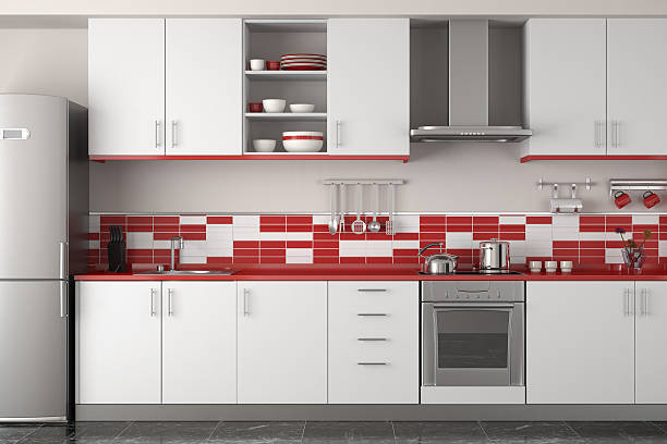1 896 Red Kitchen Cabinets Stock Photos Pictures Royalty Free Images