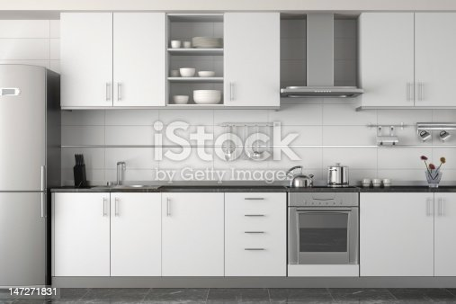 istock interior design of modern white kitchen 147271831