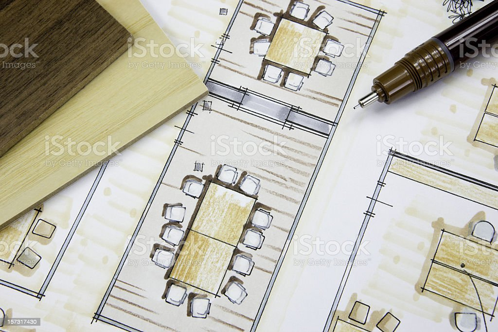 Interior Design Office Concept royalty-free stock photo