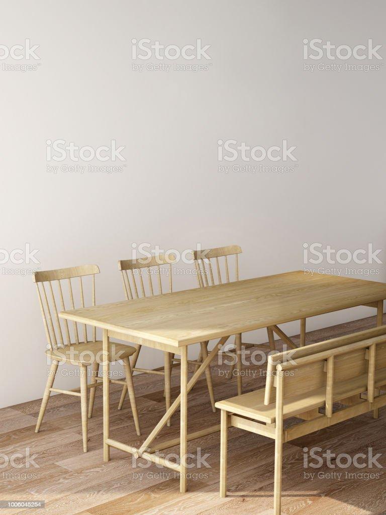 Interior Design Moderne Wohn Und Essbereich Mit Tisch