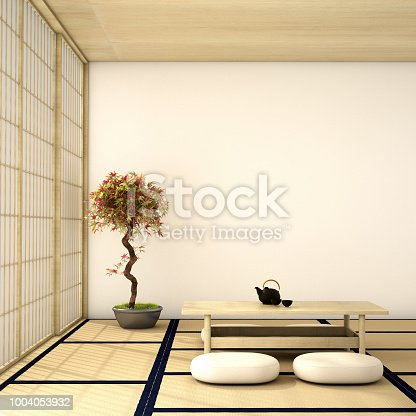 istock interior design,modern living room in Japanese style 1004053932