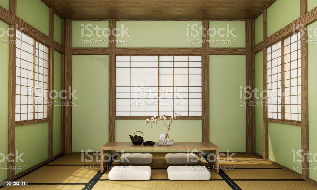 Interior Design Moderne Wohnzimmer Im Japanischen Stil Stockfoto und ...