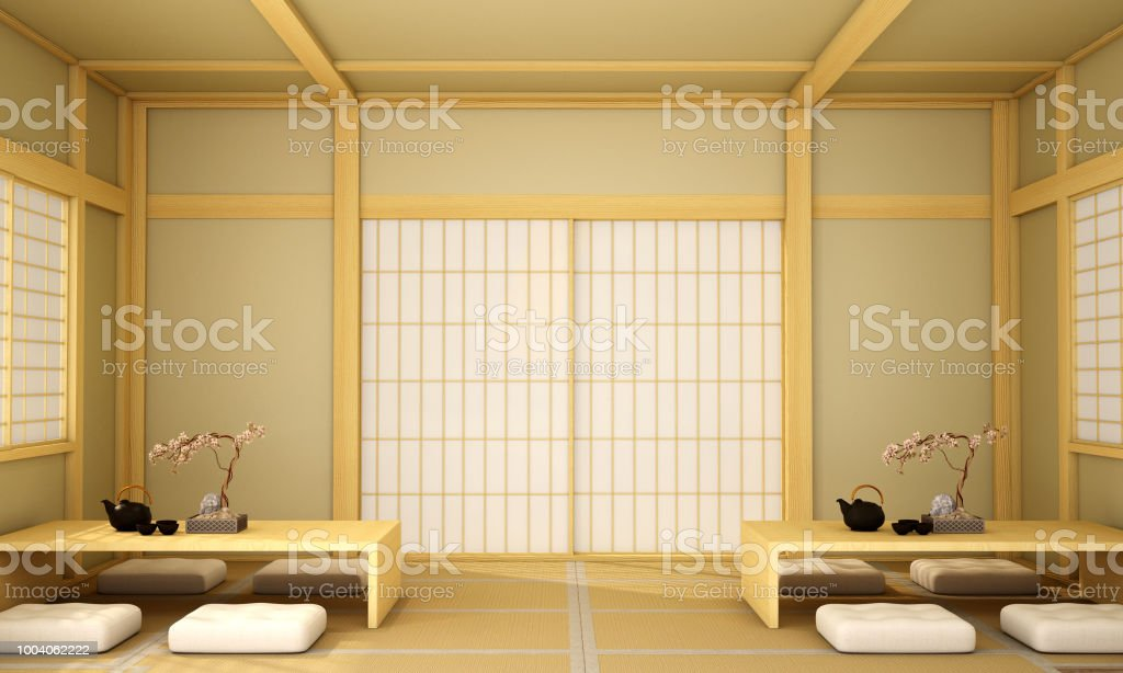 Interior Designmodern Living Room In Japanese Style Stock Photo Download Image Now Istock