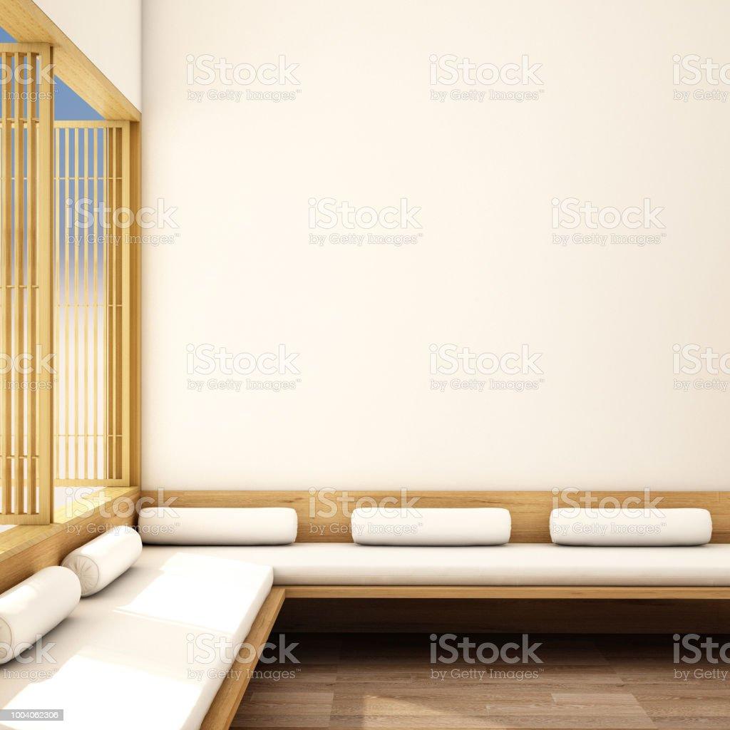 Interior Design Moderne Wohnzimmer Im Japanischen Stil Stockfoto ...