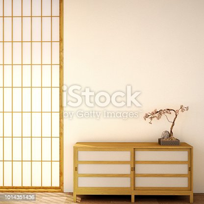 istock interior design,modern living room in Japanese style 1014351436