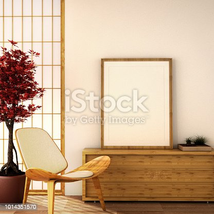 istock interior design,modern living room in Japanese style 1014351570