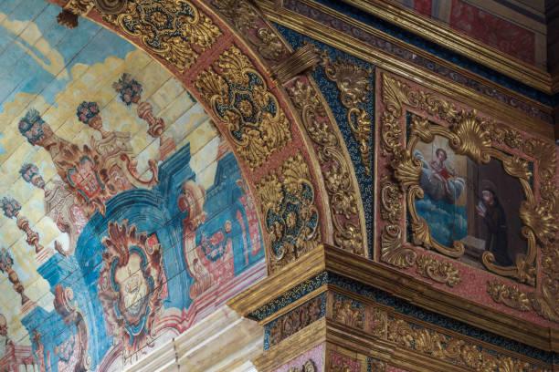 Interior Details of St Mary der Angels Church in Penedo Stadt – Foto