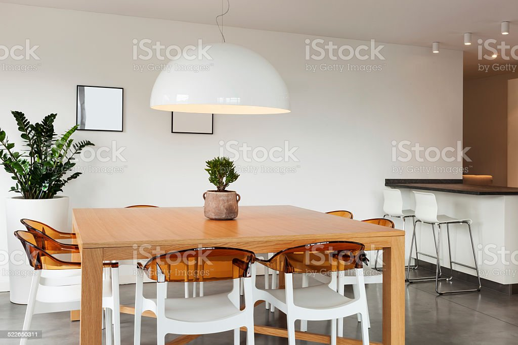 interior, dining room view stock photo