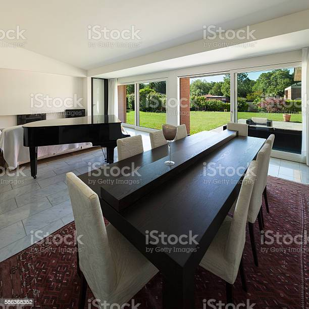 Interior Dining Room With Piano Stock Photo Download Image Now Istock